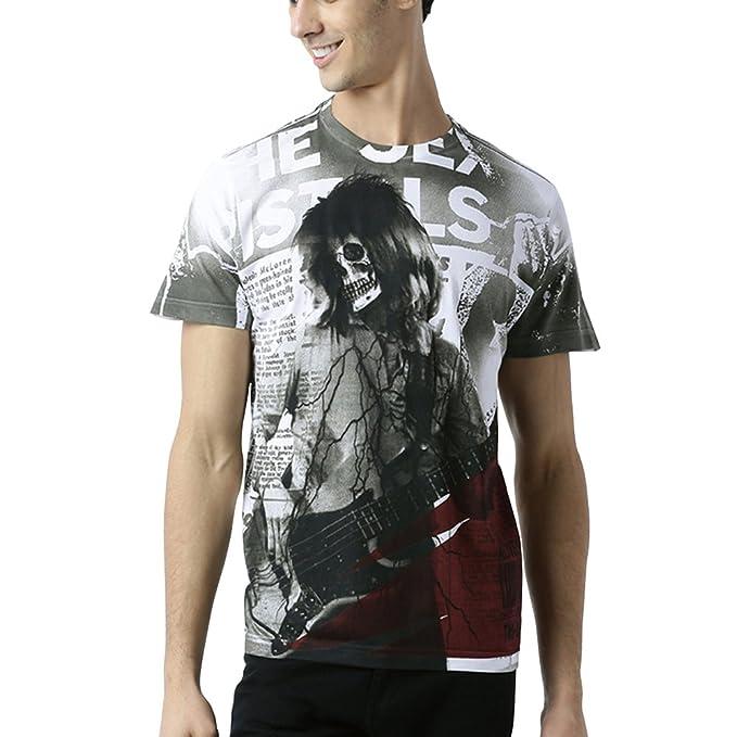 Huetrap Men's Skull Rock Music T Shirt Men's T-Shirts at amazon
