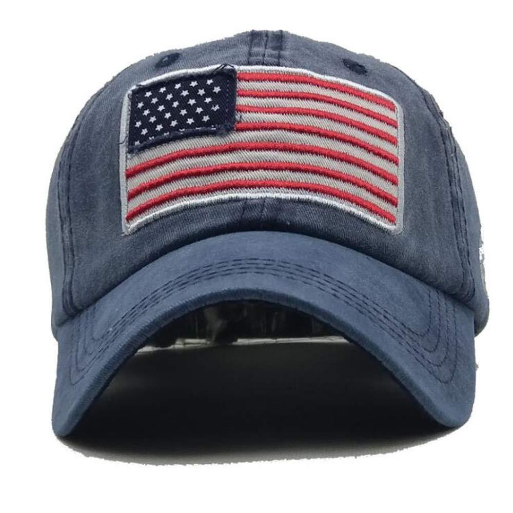 THY trade EE UU Bandera de Estados Unidos Gorra de b/éisbol Polo Bordado Ej/ército Militar Sombrero Personalidad Movimiento Simple Ocio Sombrero Unisex Ajustable Camionero de algod/ón Camionero Pap/á