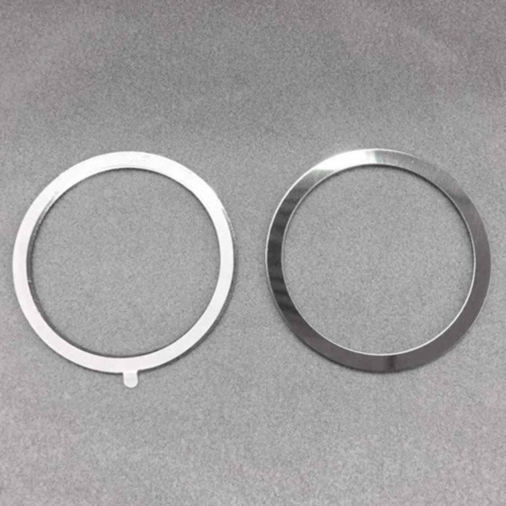 Facile da Applicare Supporto Rotondo Universale Supporto Wireless per Bocchetta dell/'Aria CLIUS per Caricatore Magnetico Qi Portatile 4 Pezzi Pratico e Professionale Anello in Metallo