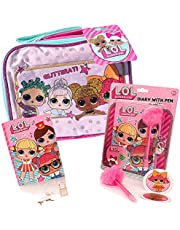 LOL Surprise Lunch Box 4 Pack Bundle with LOL Dolls Glitter Lunch Bag, L.O.L Diary, LOL Surprise Glam Pen, and LOL Surprises Stickers, New LOL Series Holiday Stocking Stuffer Toys for Girls