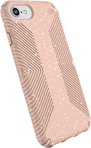 Speck Presidio Grip and Glitter Case for iPhone 8 and 7- Pink and Glitter