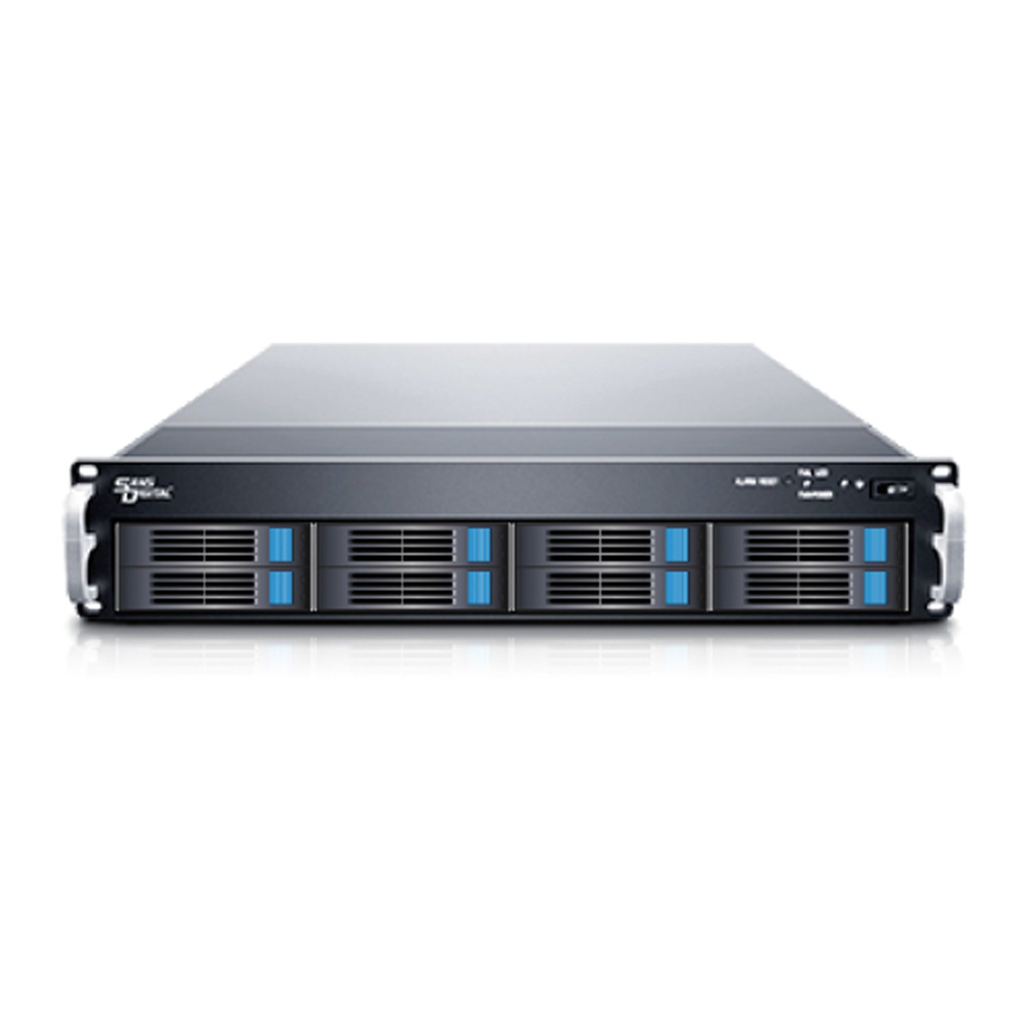 Sans Digital Removable Drive ER316I? 3U Rackmount 16Bay SATA to iSCSI 2xGbE RAID Black Retail