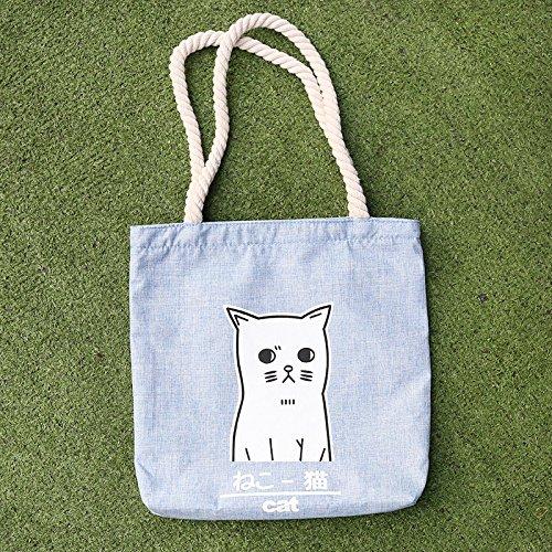 la compra de compra la la compra bolsa de compra de compra de la bolso la bolsa simple compra portátil compra Cat bolsa la 1cm x de lona 32cm x 1 para hombro mujer de bolso la de bolso de bolso casual de FwPqCa