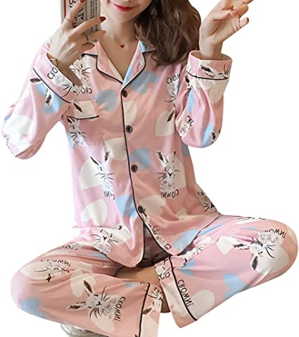 chenpaif Conjunto de Pijamas para Mujer Kawaii Cartoon ...
