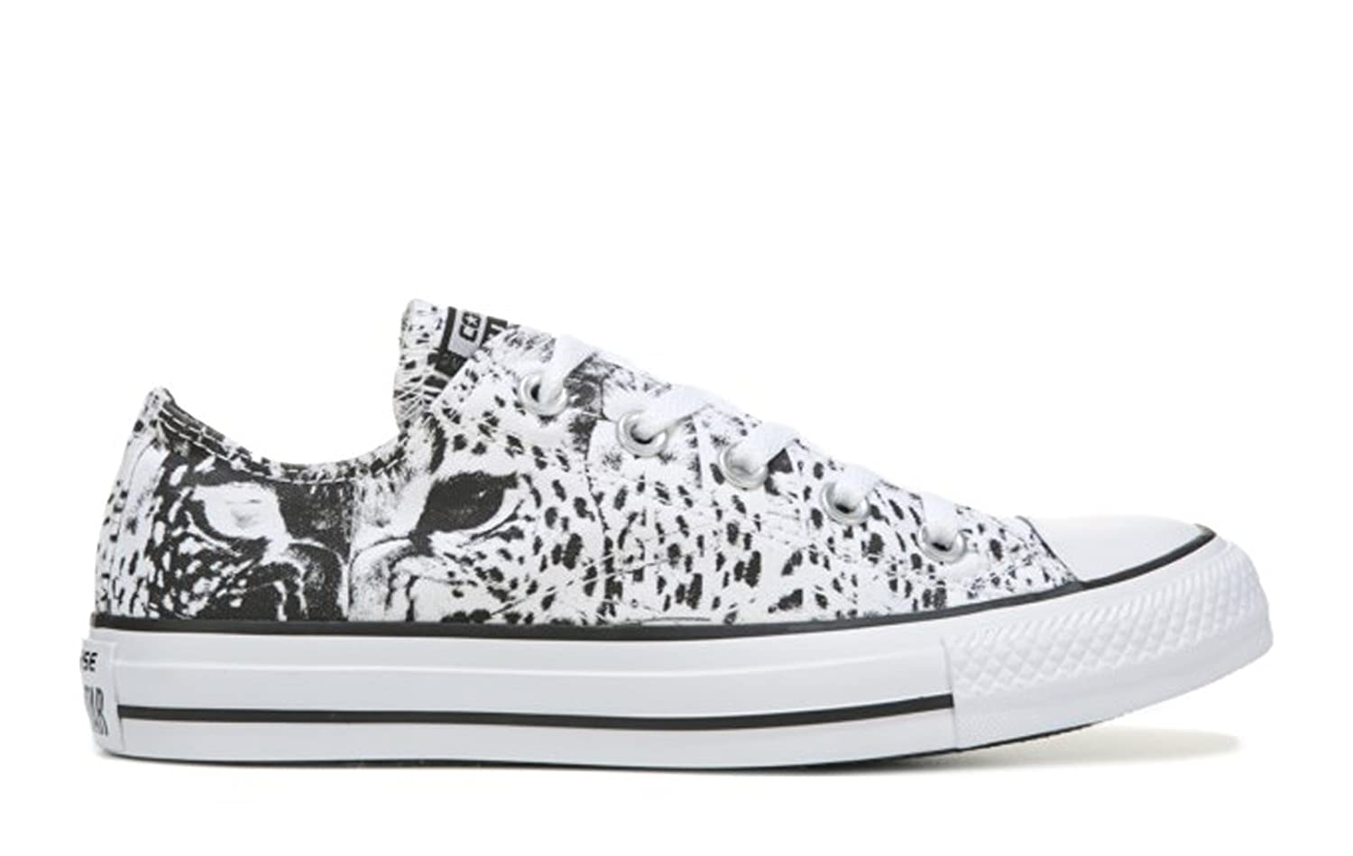 Converse Mens Chuck Taylor All Star Animal Print Ox White//Black//White 5.5 M