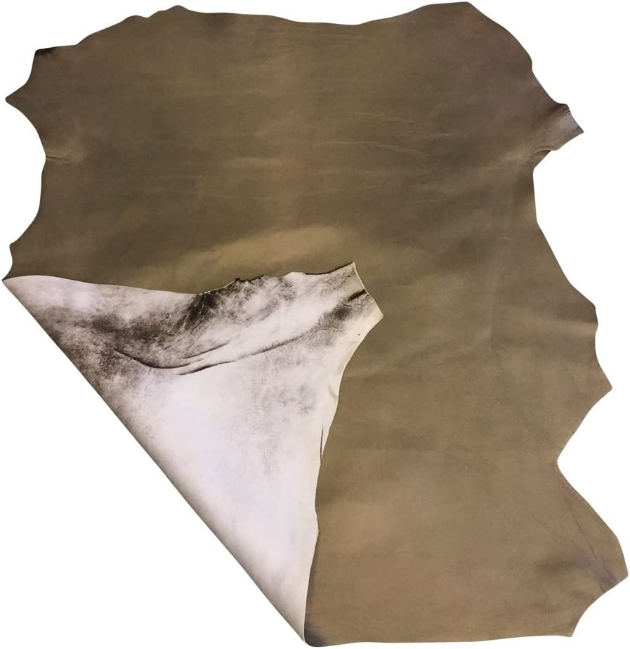 Wholesale Supply 2 oz.avg Thickness Taupe Metallic Leather Hide Thin Upholstery Home D/écor Fabric 4 sq ft Pearlescent Finish Craft DIY Projects Soft Genuine Lambskin Spanish Full Skin