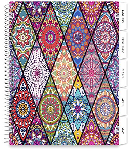 Ata Glance Daily (Tools4Wisdom Planners 2018 Planner - 8.5 x 11 Softcover - Dated 2018 Calendar Year - Daily Weekly Monthly Yearly Day Planner (Spiral Bound with Tabs))