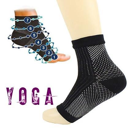 2 Pares Calcetines Yoga Antideslizante Silicona Gránulos ...