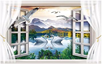 Malilove Custom Photo 3d Raum Wallpaper Wandbild Schwanensee