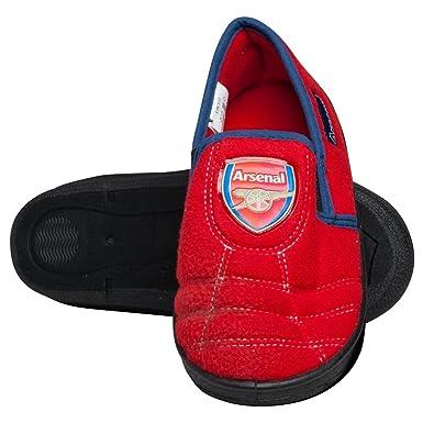 ARSENAL FC CHILDS JUNIOR FOOTBALL BOOT SLIP ON BOYS GIRLS SLIPPERS FOOTWEAR AFC