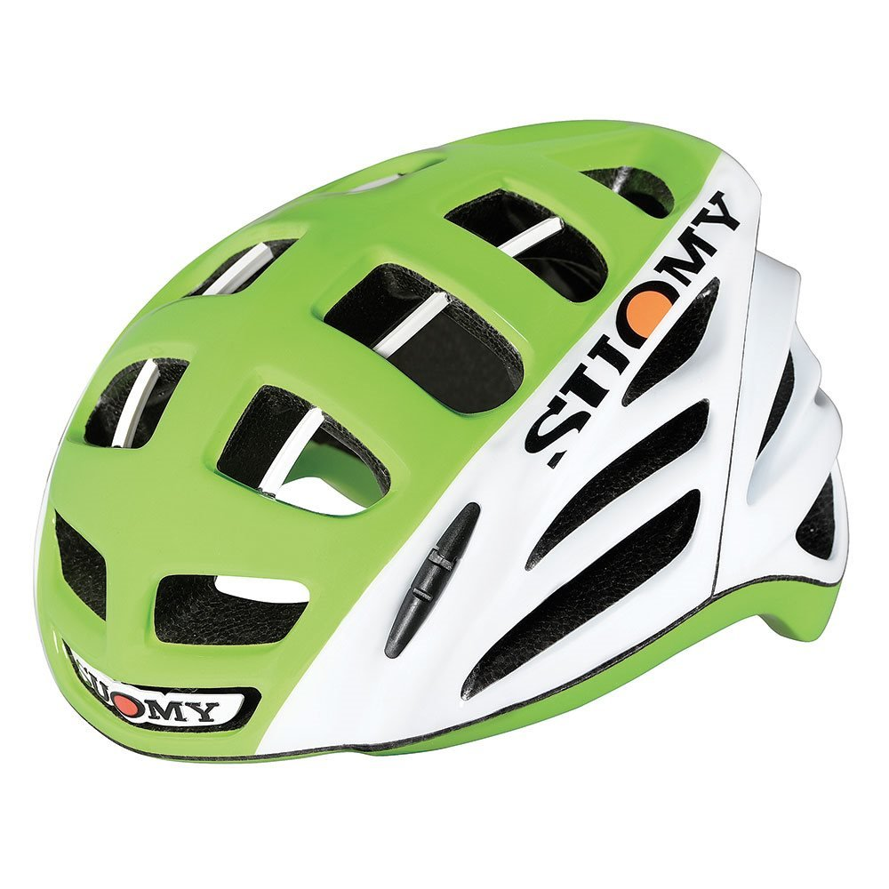 Suomy Helm Fahrrad Straße Gun Wind HV high-visibility weiß/lime Größe M (Helme MTB und Weg)/Road Racing Helmet Gun Wind HV high-visibility Weiß/Lime Größe M (MTB and Road Helmet)