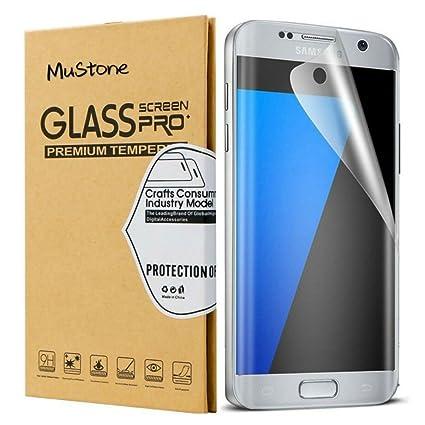 [2 unidades] Galaxy S7 Edge Protector de pantalla, mustone S7 Edge vidrio templado