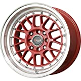 Drag Wheels DR-44 15x8.25/ 4x100/ 4x114.3 Hellaflush et25 Red step lip rims