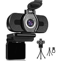 Dericam 1080P Webcam with Microphone, USB Computer Web Camera, Plug and Play Desktop and Laptop Webcam for Windows Mac…