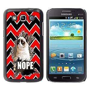 - Chevron Grumpy Cat - - Caso de la cubierta protectora de la manera Dream Catcher Dise?o de pl¨¢stico duro FOR Samsung Galaxy Win I8550 Retro Candy
