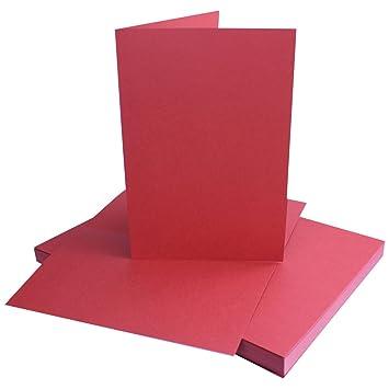 50 St/ück Kirchenheft f/ür Drucker geeignet Dunkelrot Premium Qualit/ätsmarke: NEUSER FarbenFroh/® Einladungskarten DIN A5 Faltkarten Blanko 14,8 x 21 cm formstabil Men/ükarten
