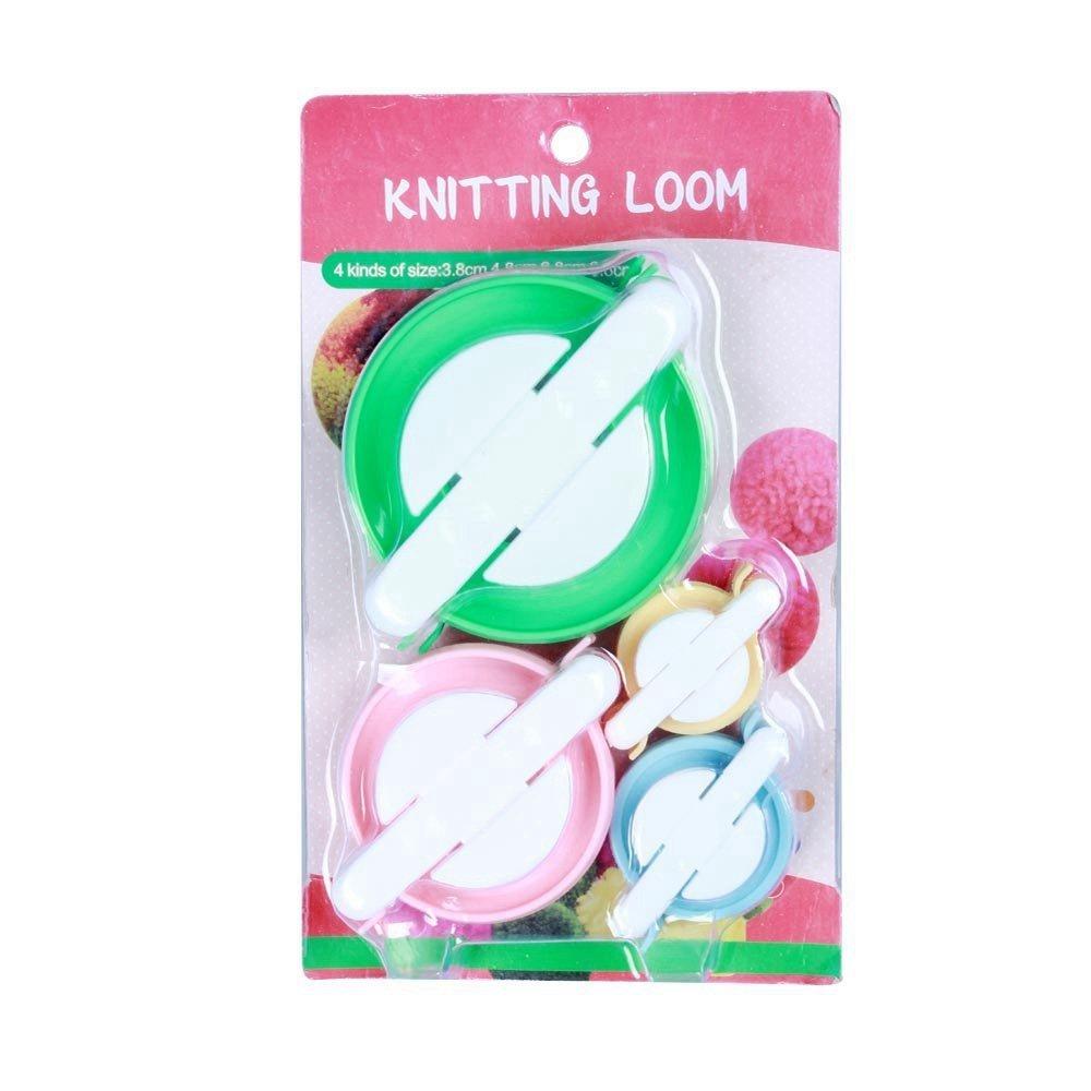 Mintbon 4 Sizes of Pompom Maker Fluff Ball Weaver DIY Knitting Craft Tool Kit