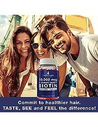 10,000 Mcg Gummy Bear Biotin por Hair Thickness Maximizer | Gomas vegetarianas, sin...