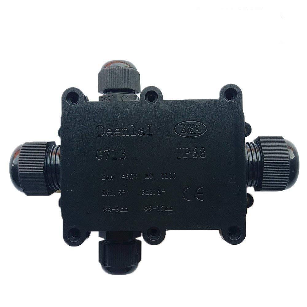 c/âble Gland 12/15/mm c/âble Diam/ètre connecteur de c/âble externe Peut /électriques ext/érieur Bo/îte de jonction /étanche connecteur de c/âble Peut IP68/ /Noir Coupler
