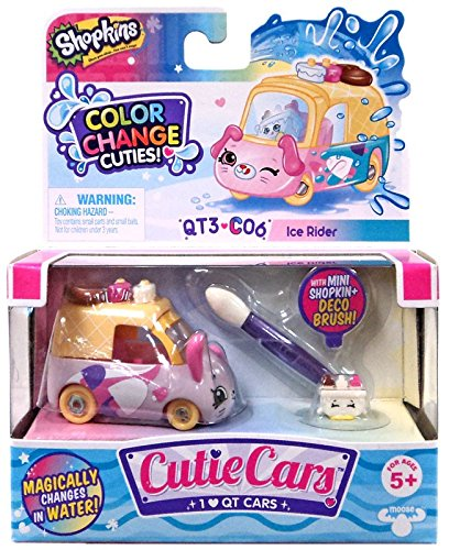 Shopkins Cutie Cars Series 3 Color Change Cuties QT3-C06 Ice Rider Moose Toys