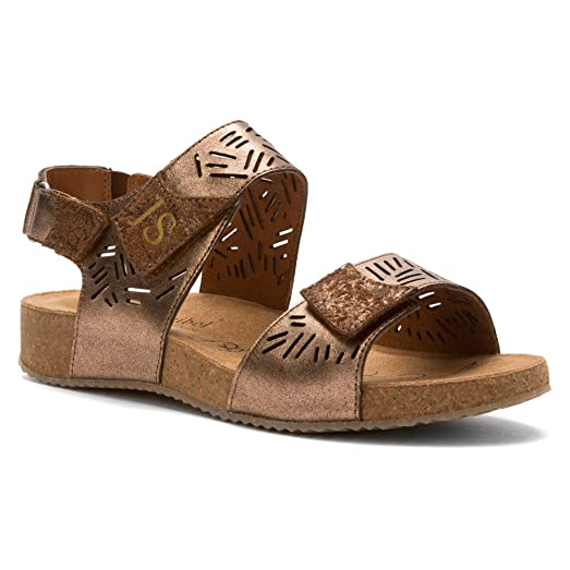 Josef Seibel Tonga 14 Strappy Sandals, Bronze, 36 M/B