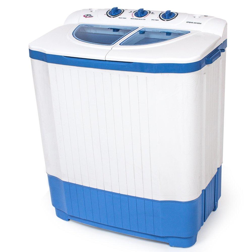 TecTake 400777 Mini machine à laver jusqu'à 4, 5 kg - Lave-linge compact