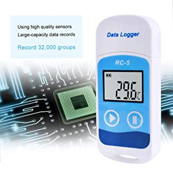 Amazon.com: Forgun Mini RC-5 Temperature Data Logger USB Temp Recorder Digital Termometro Sensor: Arts, Crafts & Sewing