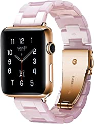 BONSTRAP Band Compatible with Apple Watch Resin Watch Bands Compatible with Apple Watch 38mm 42mm 40mm 44mm for Women Men