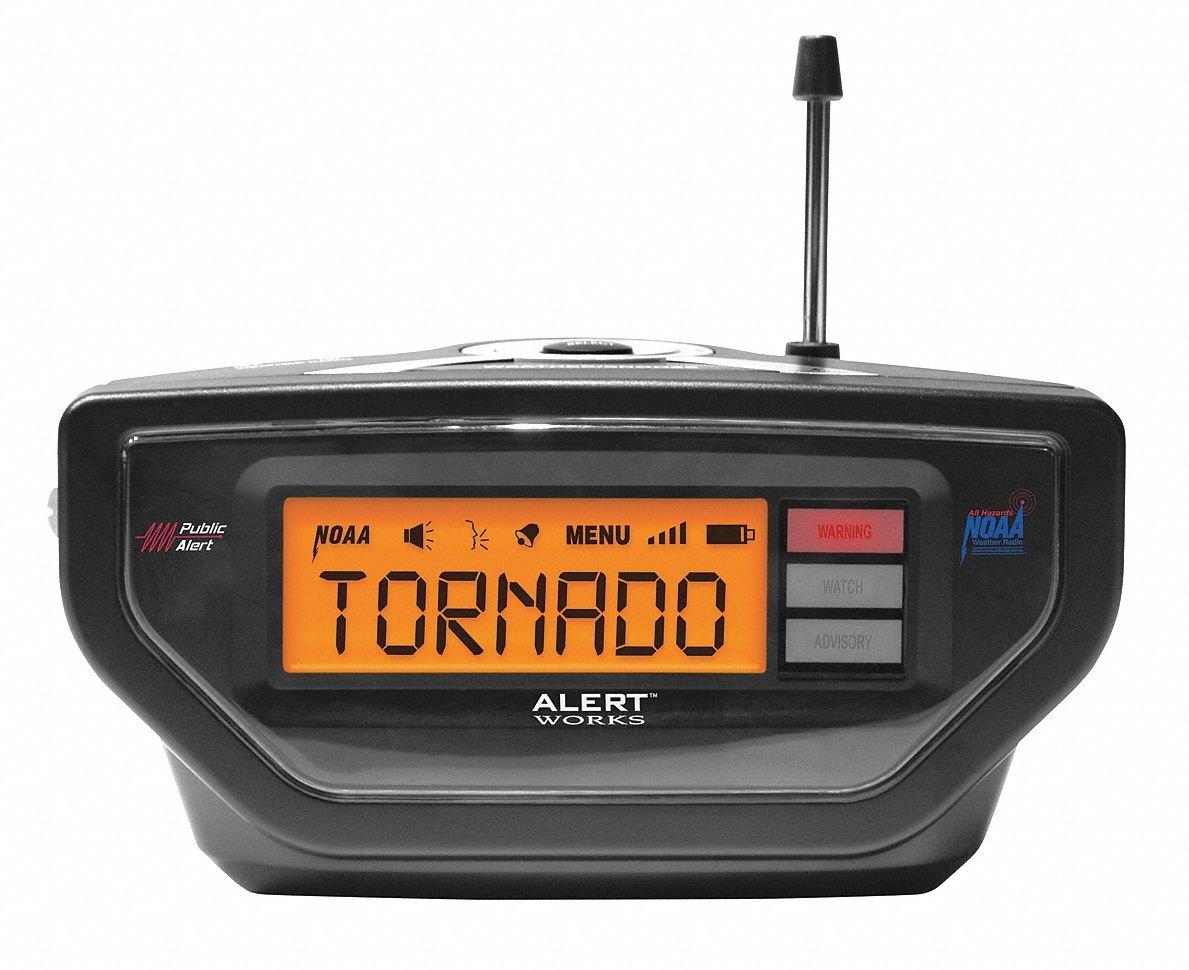 Portable Table Top Weather Radio, Black, NOAA