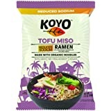 Koyo Ramen Soup, Tofu Miso Reduced Sodium, Made With Organic Noodles, No MSG, No Preservatives, Vegan, 2.1 Ounces Per Package