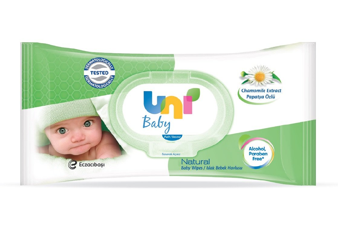 Uni Baby Natural Wet Wipes 56 Sheets (12 Packs Per Case)