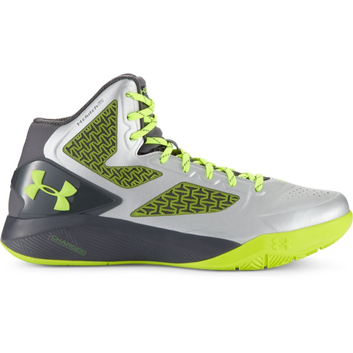 [アンダーアーマー] UNDER ARMOUR UAクラッチフィット ドライブ2 B00SLOW316 12.5 D(M) US Metallic Silver/Graphite/High-vis Yellow