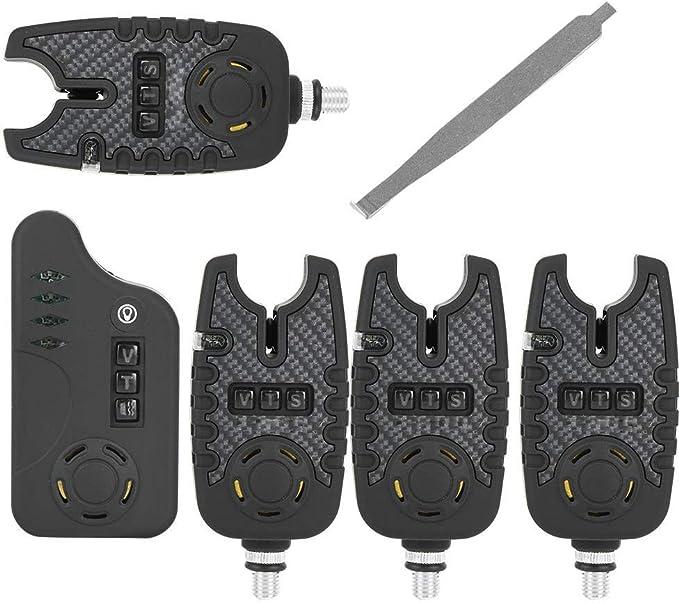 4 x LED Bissanzeiger Strike Alert Rute Aal Nachtangeln elektronischer.Bite T3T7