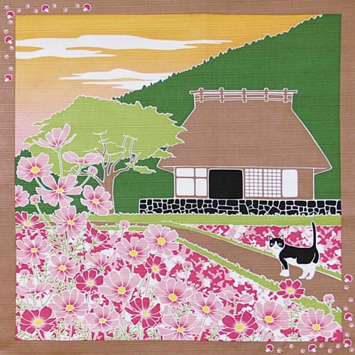 Remarkable Furoshiki Small Size Japanese Wrapping Cloth Traveling Cat Japanese Old Style House Cosmos Cat September Home Interior And Landscaping Synyenasavecom