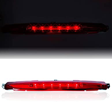 Red Lens High Mount Stop Cargo Light Lamp for 2002-2012 Chevrolet Avalanche Led 3rd Brake Pickup Truck Light