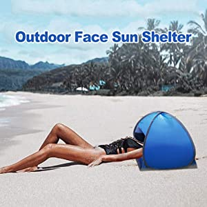 SPRINGWT Sun Shelters,Instant Sun Shade Canopy,Head PopUp Canopy, Automatic Shade Tent for Beach Camping Fishing Hiking Picnic,Portable Sun Shelter with Mobile Phone Stand
