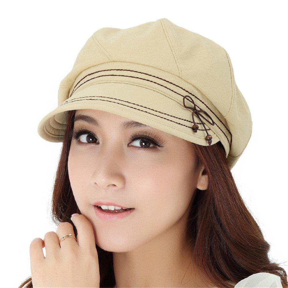 Mujeres mujeres de cuello blanco moda elegante de Placer Dome de sombrerería Hat 751 cute pato lengu...