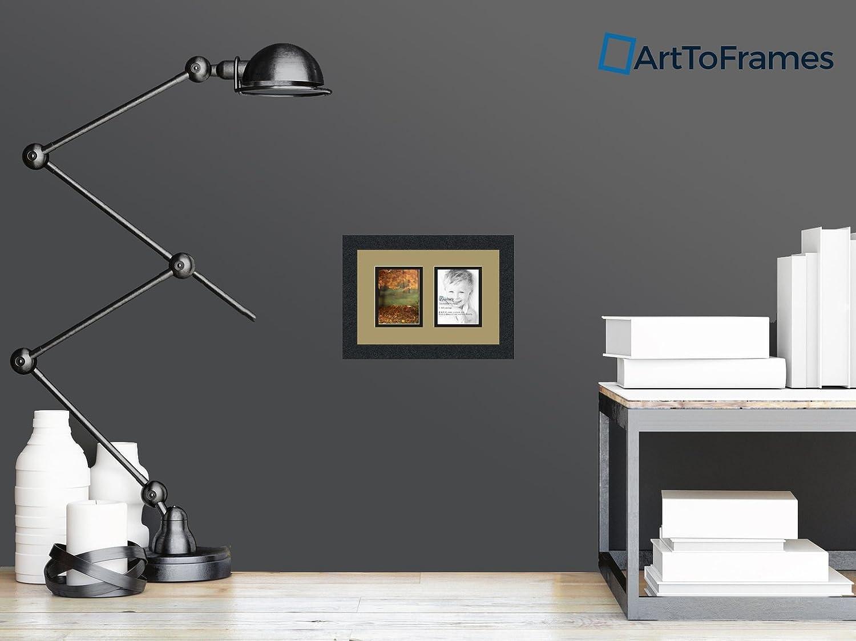Amazon.de: arttoframes Foto Collage Rahmen Matte Doppelzimmer mit 2 ...