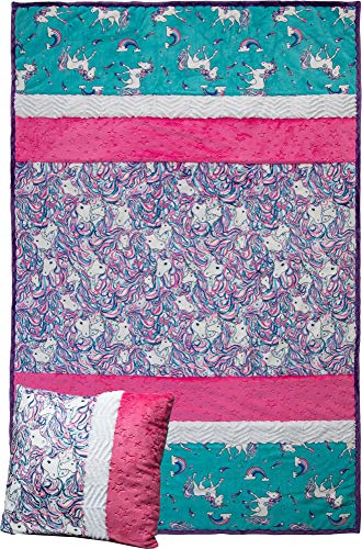 Minky Picture Perfect Stardust Unicorn Cuddle Kit Quilt Kit Shannon ()