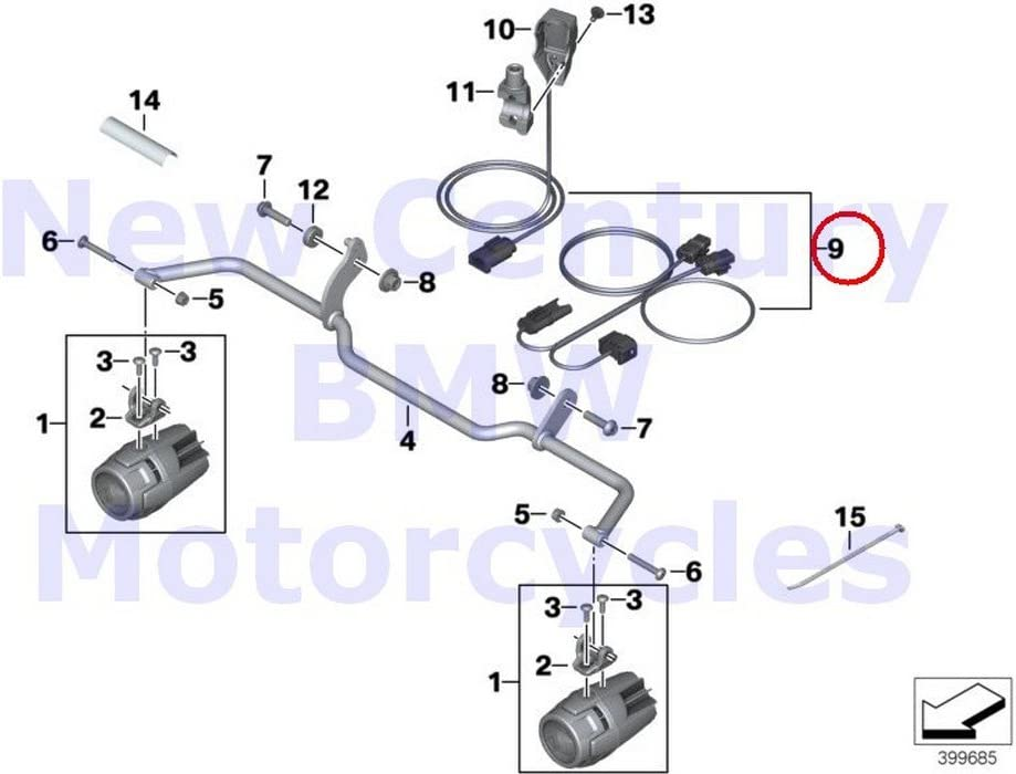 Amazon.com: BMW Genuine Motorcycle Auxiliary Driving Light Wiring Harness  R1200RT R1200R: Automotive | 2014 R1200rt Wiring Diagram |  | Amazon.com