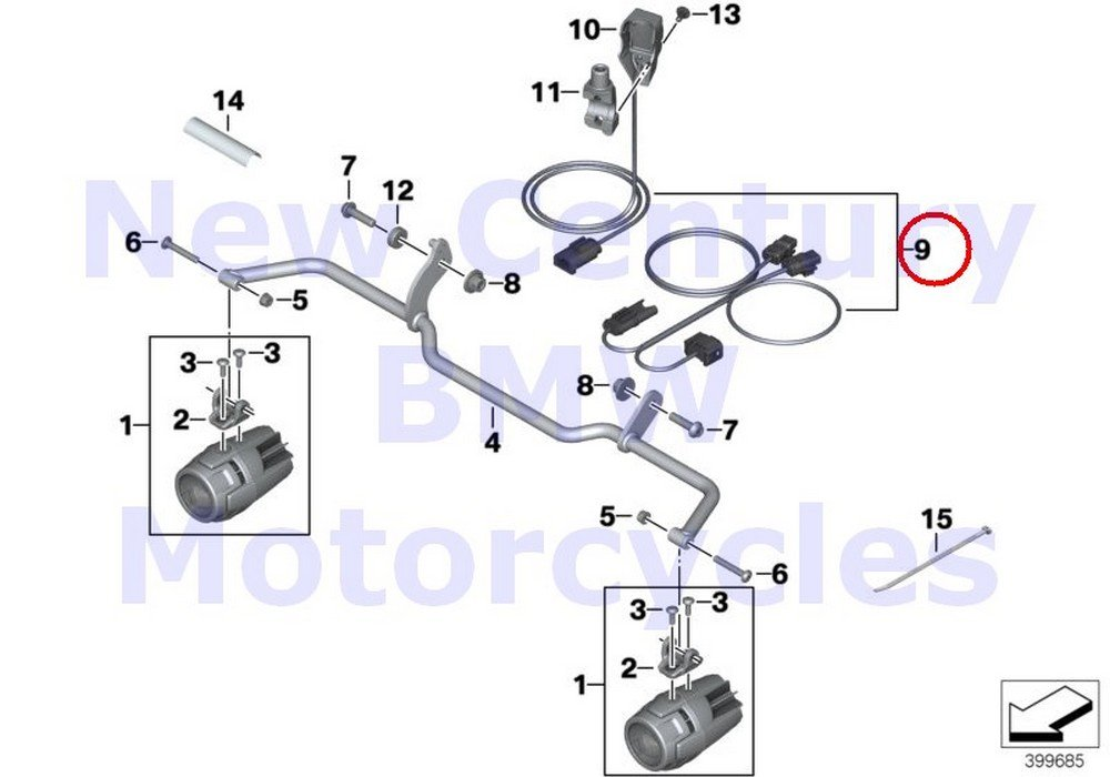 amazon com: bmw genuine motorcycle auxiliary driving light wiring harness  r1200rt r1200r: automotive