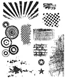Stampers Anonymous Tim Holtz Large Cling Rubber Stamp Set, Bitty Grunge