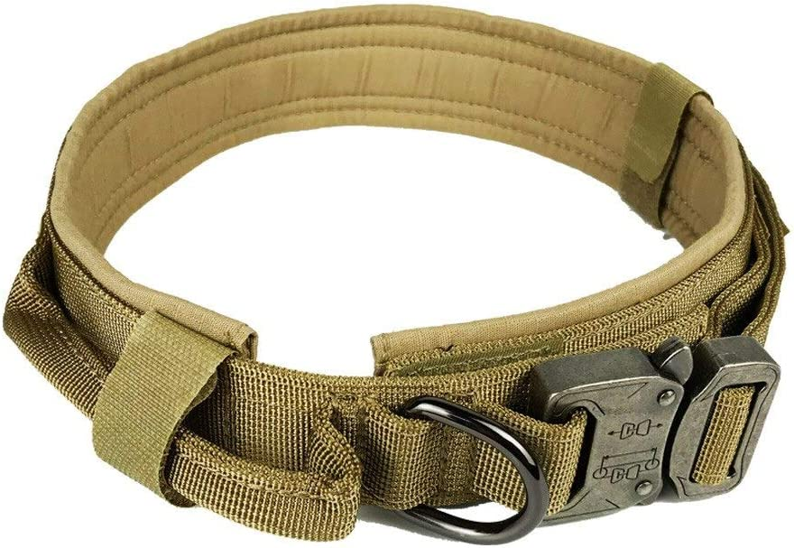 Stephanie Collars - Dog Collar Nylon Adjustable Military Tactical Dog Collars Control Handle Training Pet Cat Dog Collar Pet Products - by 1 PCs
