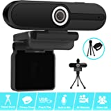 4K Webcam, Webcam 8MP HD Computer Camera with Microphone, Pro Streaming Web Camera with Privacy Shutter and Tripod, PC Mac De