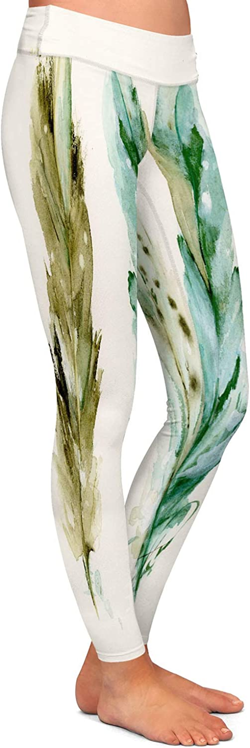 3 Feathers Athletic Yoga Leggings from DiaNoche Designs by Dawn Derman