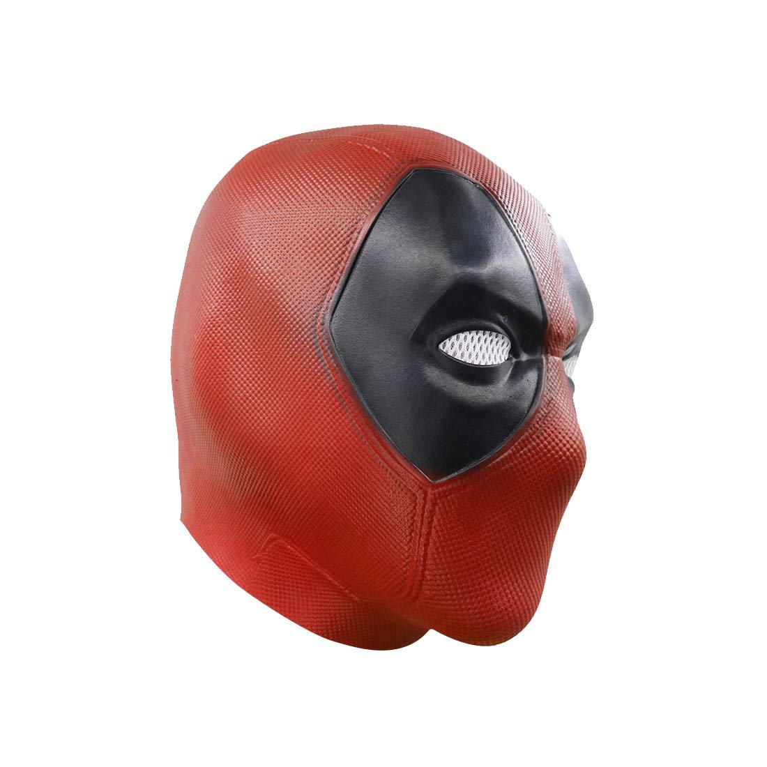 Hpparty m/áscara de Deadpool pel/ícula cosplay Halloween disfraz r/éplica m/áscara Latex Mask
