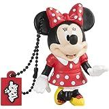 Tribe Disney Minnie Mouse Chiavetta USB da 8 GB Pendrive Memoria USB Flash Drive 2.0 Memory Stick, Idee Regalo Originali, Figurine 3D, Archiviazione Dati USB Gadget in PVC con Portachiavi - Multicolore