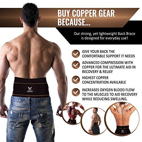 a20a6c24ff Copper Compression Gear PREMIUM Fit Back Brace Lower Lumbar - Import It All