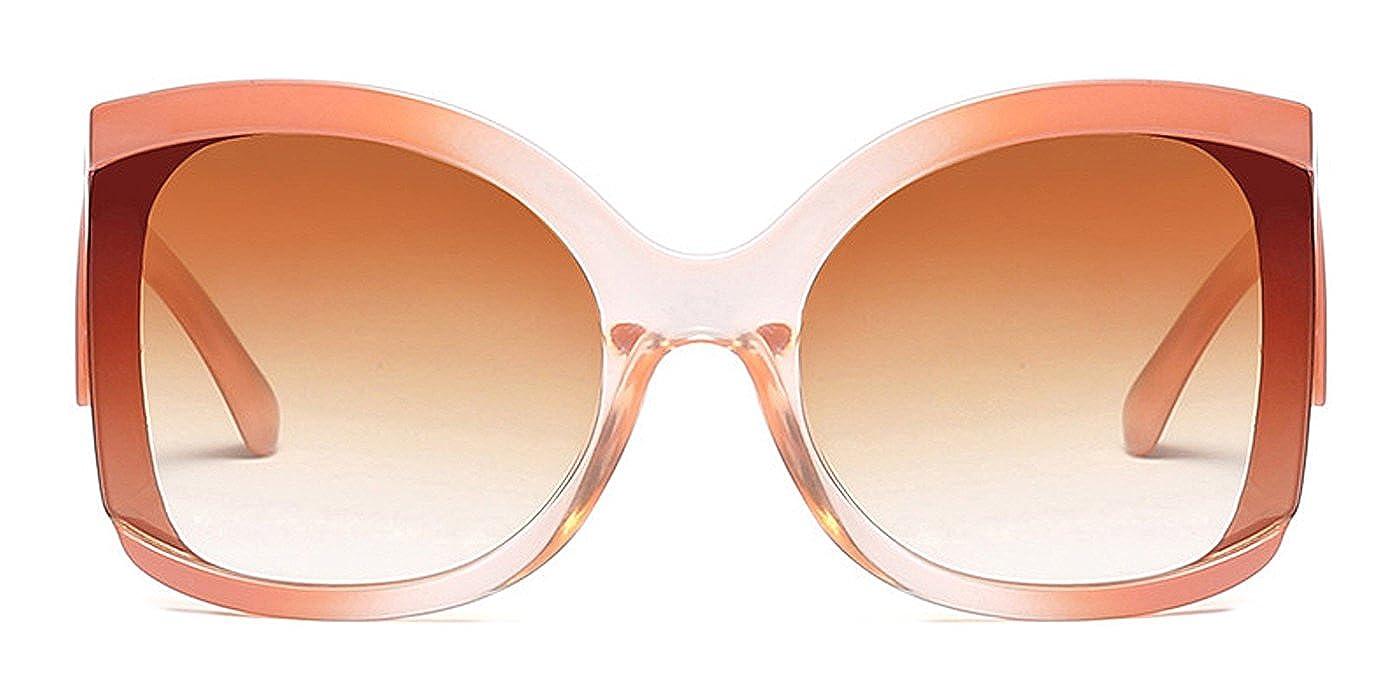 TIJN Gafas de sol - para mujer Marrón Tea Large: Amazon.es ...