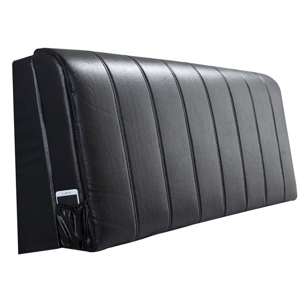 HAIPENG クッション ベッドの背もたれ ヘッドボード ベッド バックレスト クッション 枕 ベッドサイド カバー 布張り 腰椎 パッド ヘッドレスト ソファー 柔らかい 快適、 5色、 マルチサイズ (色 : Black, サイズ さいず : 155x10x58cm) B07F5GT9TW 155x10x58cm Black Black 155x10x58cm